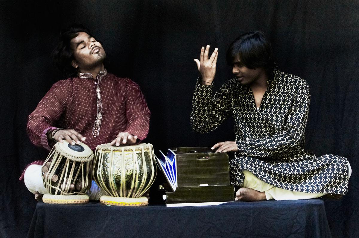 Portraits Indiens- Tabla Harmonium