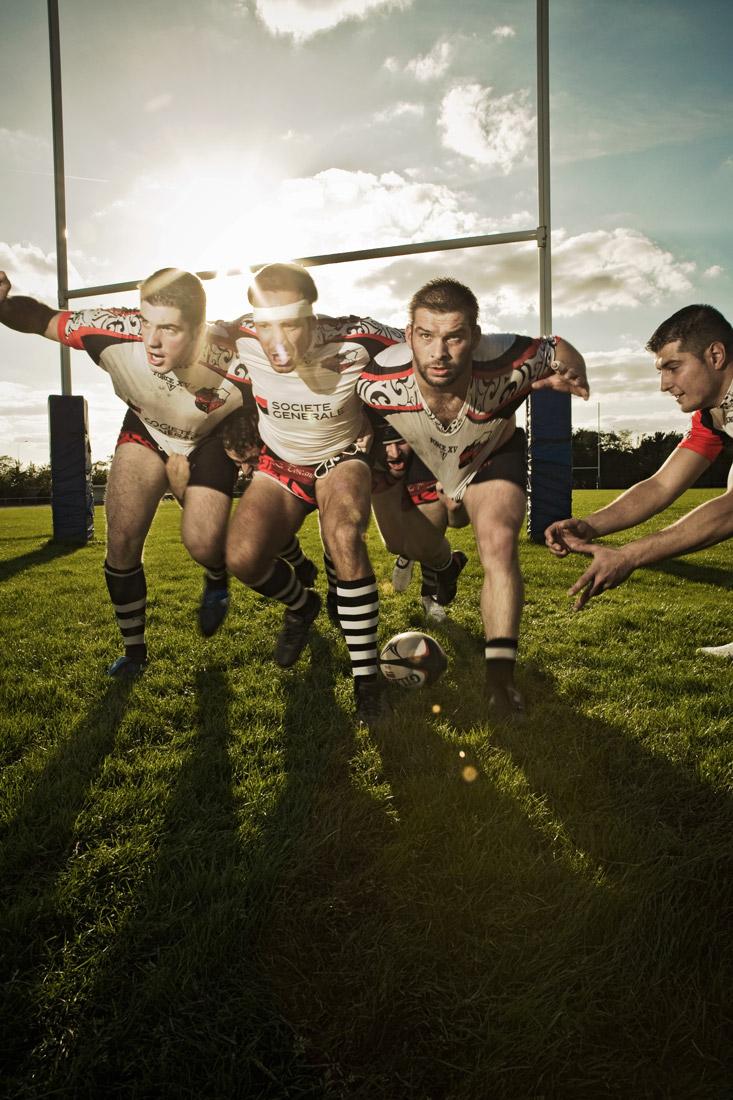 Rugby-mélée